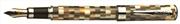 Conklin Stylograph Mosaic Kahve/Beyaz Mozaikler Dolma Kalem - 2 Farklı Uç Seçeneği