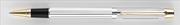 Scrikss 722W Balık Sırtı Desen Parlak Krom/Altın Roller kalem