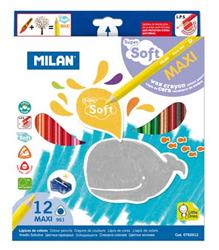 Milan Soft Kuru Boya Kalemi 12 li Kutu M0792612