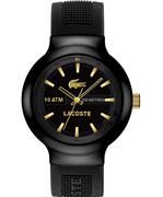 Lacoste Borneo Siyah/Altın Silikon Kayış Saat 44mm - Erkek