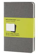 MOLESKINE cahiers set of 3 Notebook Plain Journals 9x14cm - Grey