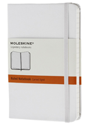 MOLESKINE White HardCover Ruled Notebook 9x14cm