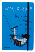 "Scrikss Notelook ""WORLD SOUP"" Notebook - A6 (10.5x14.8cm)"