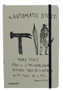 "Scrikss Notelook ""AUTOMATIC STORY"" Notebook - A7 (7.4x10.5cm)"