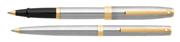 SHEAFFER Sagaris Yarım Mat Çelik/Altın Rollerkalem + Tükenmezkalem Set