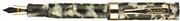 Conklin Endura1924 Siyah/Beyaz Gövde Altın Klips Dolma Kalem - 2 Farklı Uç Seçeneği