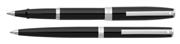 SHEAFFER Sagaris Parlak Siyah/Çelik Rollerkalem + Tükenmezkalem Set