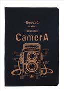 "Scrikss ""RETRO CAMERA YELLOW"" Kumaş Kaplı Özel Ciltli Düz Notebook - 14.8x21cm"