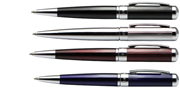 STEELPEN MİNİ PARLAK GÖVDE ÇİZGİ OYMALI TÜKENMEZ KALEM - 4 Farklı Renk Seçeneği
