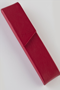 Oberthur Nomade Tekli Deri Kırmızı Kalem Kılıfı