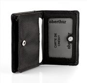 Oberthur Victoria Polyester/Deri Kartlık Siyah 10x7cm