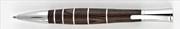 Oberthur Groove Wenge Ağacı/Çelik Tükenmez Kalem Deri Kalem Kılıfı Hediyeli
