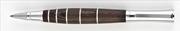 Oberthur Groove Wenge Ağacı/Çelik Roller Kalem Deri Kalem Kılıfı Hediyeli