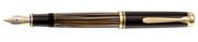Pelikan Souverän 800 Damarlı Selülöz Kahverengi/Altın Dolmakalem