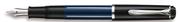 Pelikan M215 Gümüş/MaviSiyah Dolma Kalem - 4 Farklı Uç Seçeneği