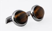 Orovento Tiger Eyes Oval 925 Som Gümüş/Kuvars Kol Düğmesi