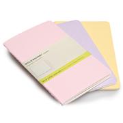MOLESKINE cahiers set of 3 Notebook Plain 9x14cm - Pastels