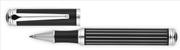 Cordial Linear Siyah/Beyaz Çizgili Desen Gövde Çelik Aksam Büyük Roller Kalem
