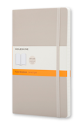 MOLESKINE Soft Cover Khaki Beige Ruled Notebook 9x14cm