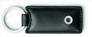 Graf Von Faber-Castell Klasik Pürüzsüz Siyah Deri Dikdörtgen Anahtarlık
