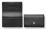 Graf Von Faber-Castell Klasik Pürüzsüz Siyah Deri Kartvizitlik