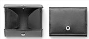 Graf Von Faber-Castell Saffiano Kabartmalı Siyah Deri Bozuk Para Cüzdanı