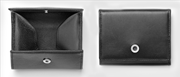 Graf Von Faber-Castell Klasik Pürüzsüz Siyah Deri Bozuk Para Cüzdanı
