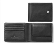 Graf Von Faber-Castell Klasik Pürüzsüz Siyah Deri Yatay Cüzdan 11.5x9cm