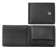 Graf Von Faber-Castell Saffiano Kabartmalı Siyah Deri Yatay Cüzdan 10.5x8.5cm