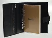 Scrikss Toscana Damarlı Deri A5 Organizer Ajanda - 24x18.5cm Siyah