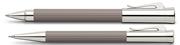 Graf von Faber-Castell Tamitio Mat Lake Kül Rengi Rollerkalem + M.Kurşunkalem