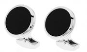 CROSS Franklin Siyah Oniks Taşlı Çelik Kol Düğmesi