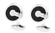 CROSS Tiverton KarbonFiber/Çelik Kol Düğmesi