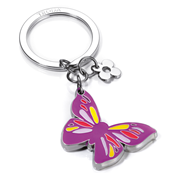 TROIKA Little Butterfly Parlak Krom/Mine Kelebek Temalı Anahtarlık 82x37x5mm