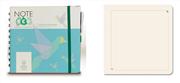Note Eco Organic Notebook 15.8x14.5cm Spiralli Düz - Kalem Hediyeli