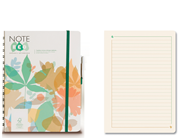 Note Eco Organic Notebook 15.8x20.6cm Spiralli Çizgili - Kalem Hediyeli