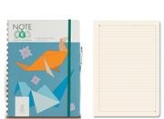 Note Eco Organic Notebook 18x24.1cm Spiralli Çizgili - Kalem Hediyeli