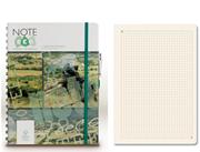 Note Eco Organic Notebook 18x24.1cm Spiralli Kareli - Kalem Hediyeli