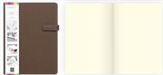 Arwey Lanvin Notebook Mıknatıslı Sert Kapak Çizgisiz 16x21.5cm Kahverengi
