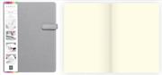 Arwey Lanvin Notebook Mıknatıslı Sert Kapak Çizgisiz 16x21.5cm Gri