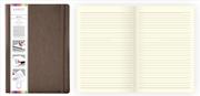 Arwey Agnes Notebook Lastikli Esnek Kapak Çizgili 16x21.5cm Kahverengi
