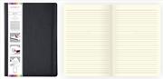 Arwey Agnes Notebook Lastikli Esnek Kapak Çizgili 16x21.5cm Siyah
