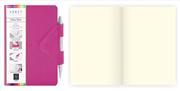 Arwey Idea Box Notebook Mıknatıslı Sert Kapak Çizgisiz Kalemli 12x16.5cm Fuşya
