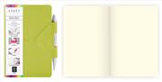 Arwey Idea Box Notebook Mıknatıslı Sert Kapak Çizgisiz Kalemli 12x16.5cm Yeşil