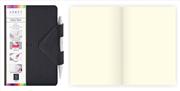 Arwey Idea Box Notebook Mıknatıslı Sert Kapak Çizgisiz Kalemli 12x16.5cm Siyah