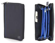 MOLESKINE Zip Wallet Fonksiyonel Güvenli Cüzdan Füme 11x18x2cm