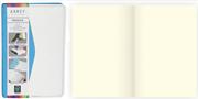 Arwey Moura Notebook Termo Deri Esnek Kapak Çizgisiz 8x13cm Mavi/Beyaz