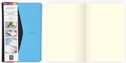 Arwey Moura Notebook Termo Deri Esnek Kapak Çizgisiz 8x13cm Siyah/Mavi