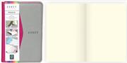 Arwey Moura Notebook Termo Deri Esnek Kapak Çizgisiz 8x13cm Fuşya/Gri