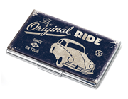 TROIKA Design The Orginal RIDE BEETLE Parlak Krom Metal 11 lik Kartvizit Kutusu 99x59x6mm